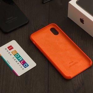 Чехол Apple Silicone Case оранжевый для iPhone X (реплика)