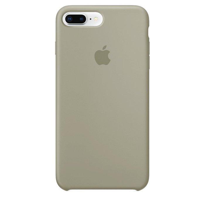 Чехол Apple Silicone Case серый для iPhone 8 Plus/7 Plus (реплика)