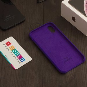 Чехол Apple Silicone Case фиолетовый для iPhone X (реплика)