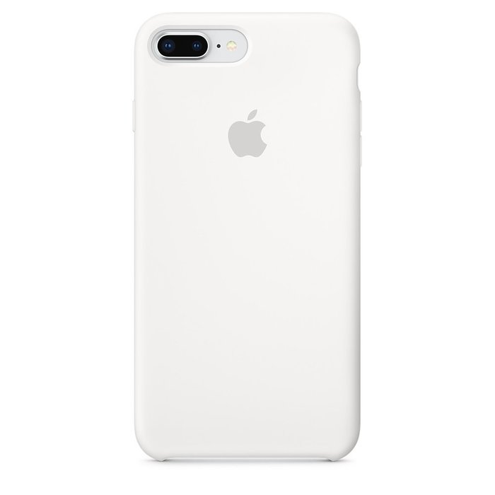 Силиконовый чехол белый для iPhone 8 Plus/7 Plus
