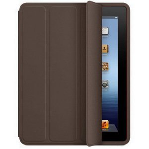 Чехол-книжка темно-коричневый для iPad 2/3/4