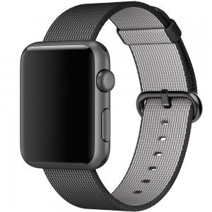Нейлоновый ремешок COTEetCI W11 черный для Apple Watch 42/44 мм