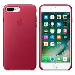 Оригинальный чехол Apple Leather Case бордовый (MPVU2) для iPhone 8 Plus/7 Plus