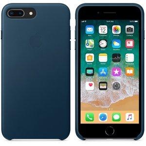 Оригинальный чехол Apple Leather Case синий (MQHR2) для iPhone 8 Plus/7 Plus