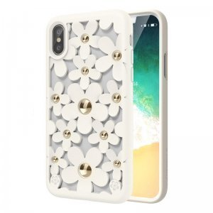 Чехол SwitchEasy Fleur белый для iPhone X