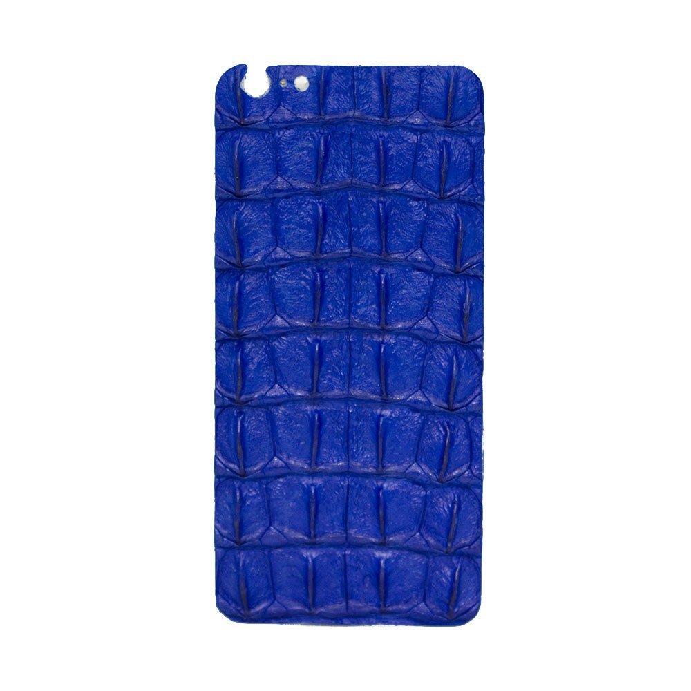 Наклейка для Apple iPhone 6 Plus/6S Plus - кожа крокодила, синяя