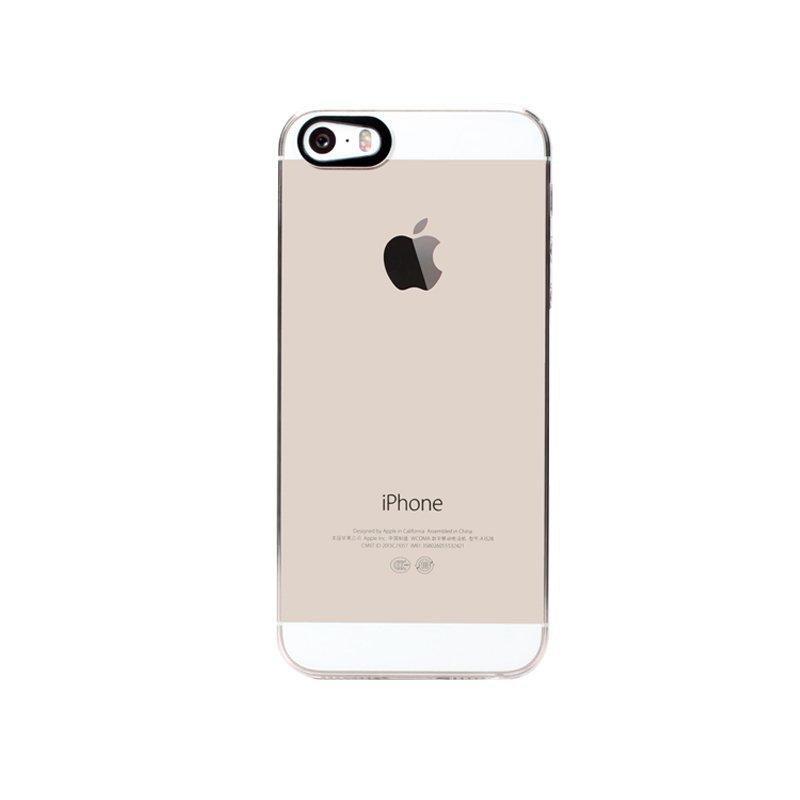 Прозрачный пластиковый чехол iBacks Transparent для iPhone 5/5S/SE