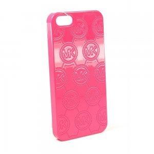 Чехол с рисунком Michael Kors Design Fashion Monogram розовый для iPhone 5/5S/SE