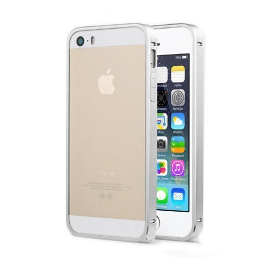 Металлический бампер LEXAN серебристый для iPhone 5/5S/SE