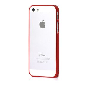 Металлический бампер Cross Metal SP-5 красный для iPhone 5/5S/SE