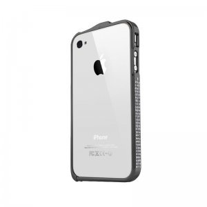 Чехол-бампер для Apple iPhone 4/4S - NewSH Swarovski design черный