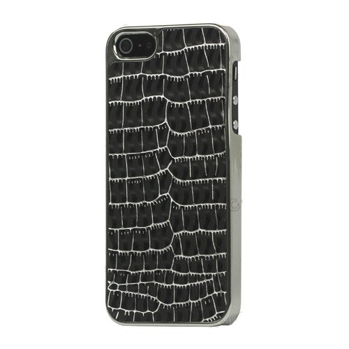Чехол-накладка для Apple iPhone 5/5s - Leather Hard Case kind croco серебристый