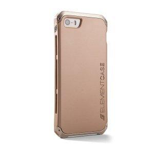 Чехол-накладка для Apple iPhone 5/5S - Element case Solace CHROMA золотистый