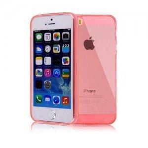 Полупрозрачный красный чехол для iPhone 5/5S/SE
