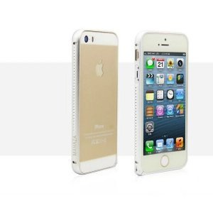 Бампер со стразами Mahaza Diamond серебристый для iPhone 5/5S/SE