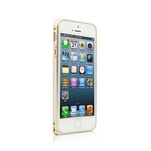 Бампер со стразами Mahaza Diamond золотой для iPhone 5/5S/SE