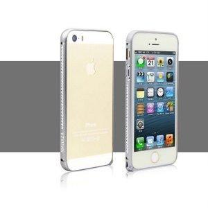 Бампер со стразами Mahaza Diamond черный для iPhone 5/5S/SE