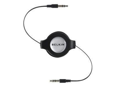 Аудиокабель Belkin Retractable Car Stereo черный