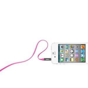 Аудиокабель Belkin 0.9м розовый