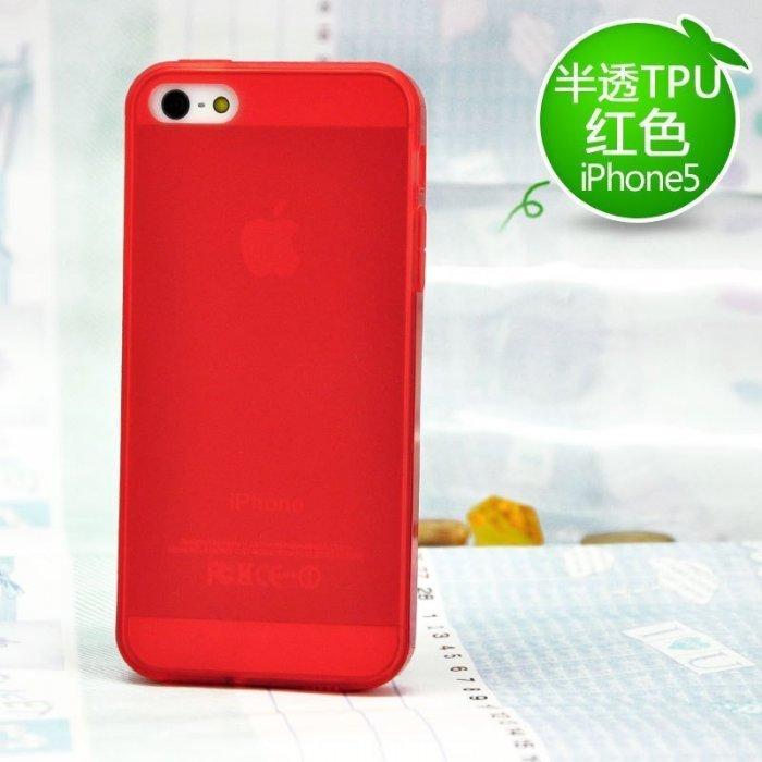 Полупрозрачный чехол Kindtoy красный для iPhone 5/5S/SE