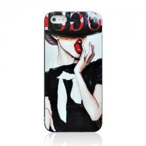 Чехол-накладка для Apple iPhone 5/5S с рисунком Vogue