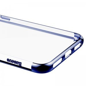 Силиконовый чехол Baseus Shining синий для iPhone 8/7