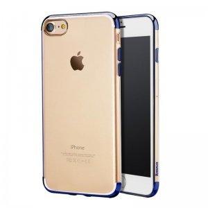 Силиконовый чехол Baseus Shining синий для iPhone 8/7/SE 2020