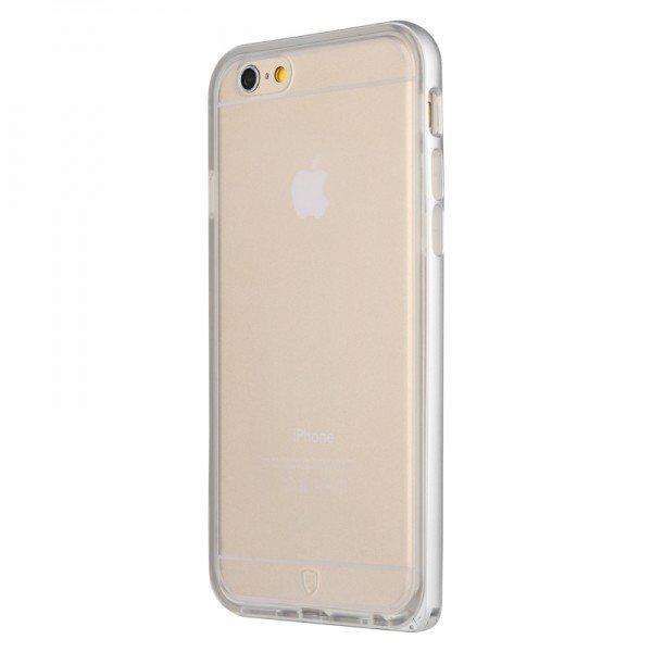 Чехол-накладка для Apple iPhone 6 Plus - Baseus Fusion серебристый