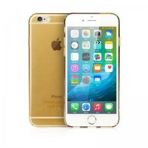 Полупрозрачный чехол Baseus Sky золотой для iPhone 6/6S