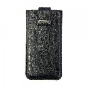 Кожаный чехол (карман) ZILLI кожа крокодила, черный для iPhone 6/6S/7