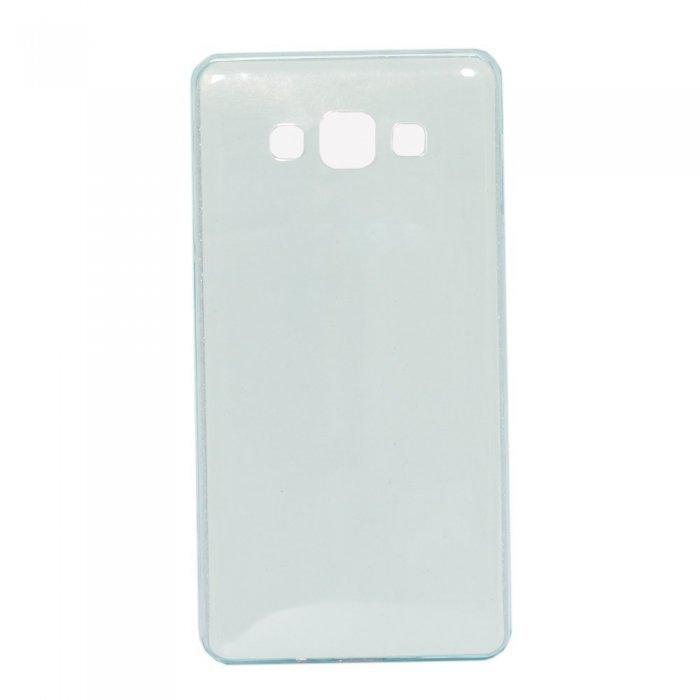 Чехол-накладка для Samsung Galaxy A7 - глянцевый, голубой