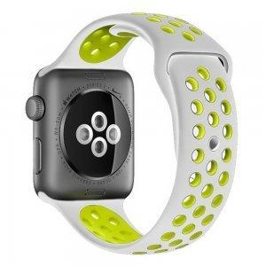 Ремешок Coteetci W12 Nike серый + желтый для Apple Watch 42mm