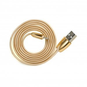 Кабель Lightning для Apple iPhone/iPad/iPod - WK ChanYi золотистый