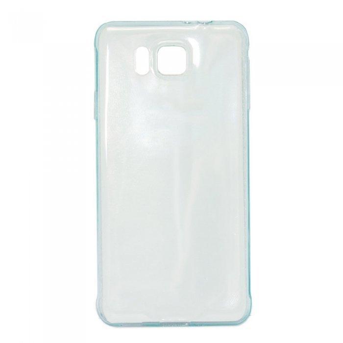 Чехол-накладка для Samsung Galaxy Alpha SM-G850F - 0,3мм голубой