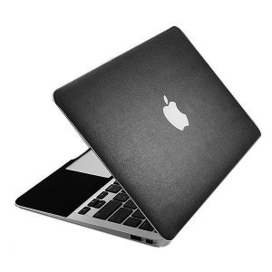 "Наклейка для Apple MacBook Air 11"" - SGP Leather Skin черный"