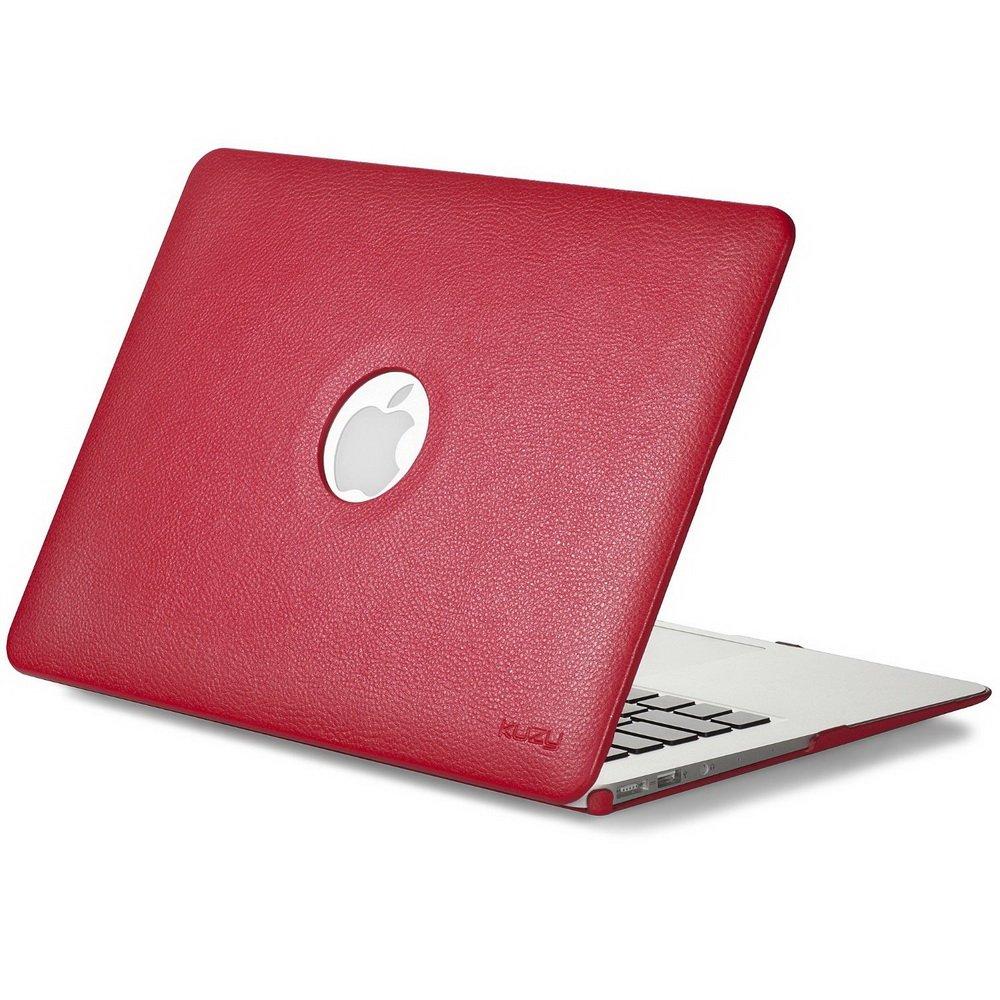 "Чехол-накладка для Apple MacBook Air 13"" - Kuzy Leather Hard Case красный"