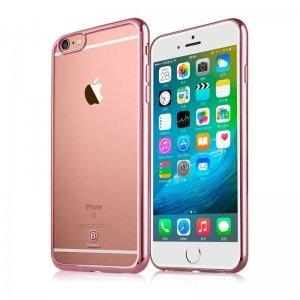Силиконовый чехол Baseus Shining розовый для iPhone 6/6S