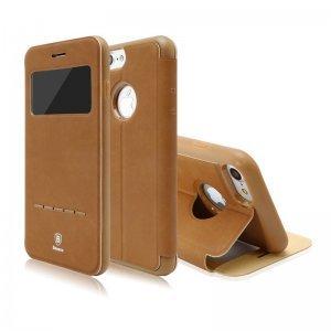 Чехол (книжка) с подставкой Baseus Simple коричневый для iPhone 8/7