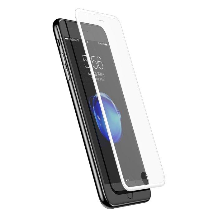 Защитное стекло Baseus 0.23mm Silk-screen глянцевое, белое для iPhone 6/6S/7/8
