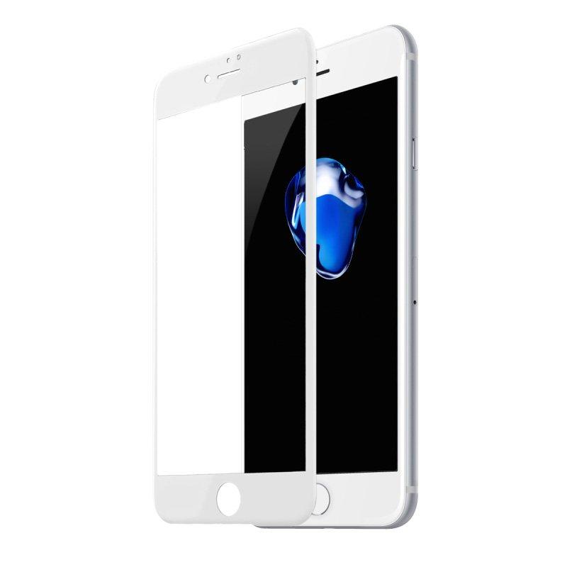 Защитное стекло Baseus All-screen Arc-surface 0.3мм, белое для iPhone 7/8 Plus