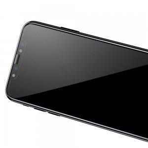Защитное стекло Baseus 0.3mm Silk-screen 3D Arc глянцевое, черное для iPhone X