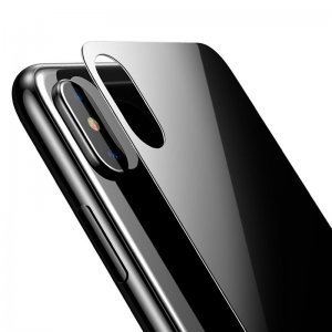 Защитное стекло Baseus 0.3мм, черное для корпуса iPhone X/XS