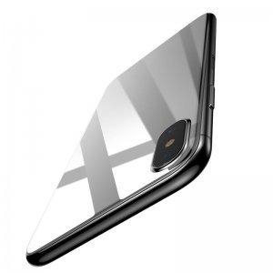 Защитное стекло Baseus 0.3mm Silk-screen Back Glass белое для iPhone X/XS