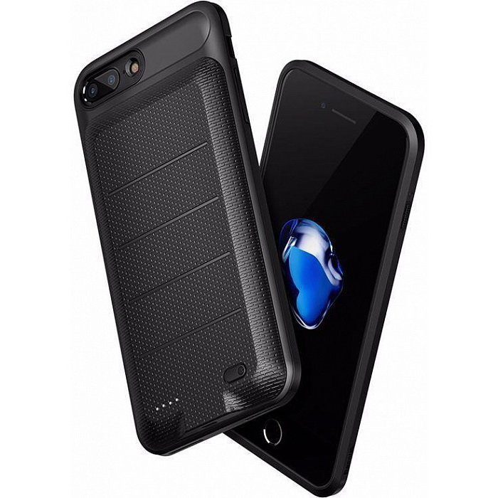 Чехол-аккумулятор Baseus Ample Backpack 3650mAh черный для iPhone 8 Plus/7 Plus