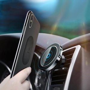 Беспроводное автомобильное ЗУ Baseus Big Ears черное для iPhone X/8