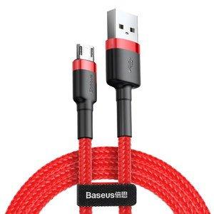 Micro-USB кабель Baseus Cafule 2.4A 1м красный