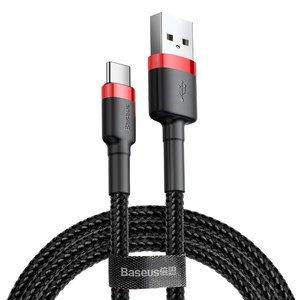 Type-C кабель Baseus Cafule 3A 1м, красный + черный