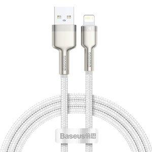 Lightning кабель Baseus Cafule Series Metal Data Cable 2.4A 1m (CALJK-A02) білий