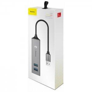 Хаб Baseus Cube USB на 3 USB 3.0 + 2 USB 2.0 темно-серый (CAHUB-C0G)
