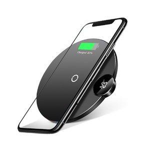 Беспроводное зарядное устройство Baseus Digital LED Display Wireless Charger черное